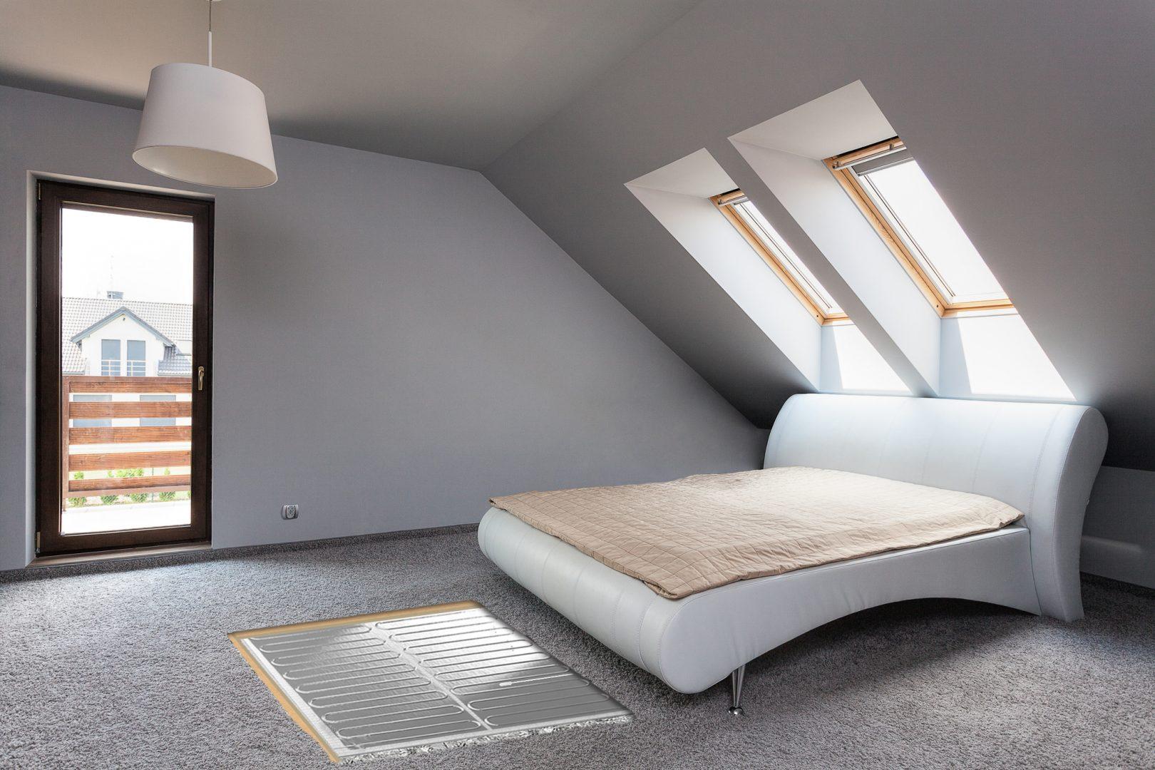 folieverwarming in de slaapkamer onder tapijt