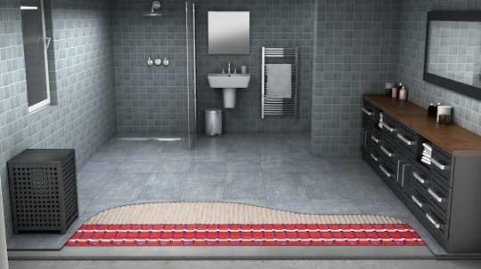 Vloerverwarming Badkamer Elektrisch : Elektrische vloerverwarming warmup nederland