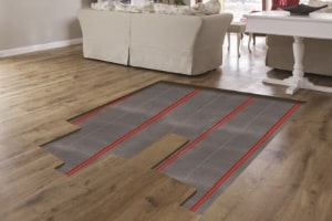 Gids voor het gebruik van vloerverwarming onder houten vloeren